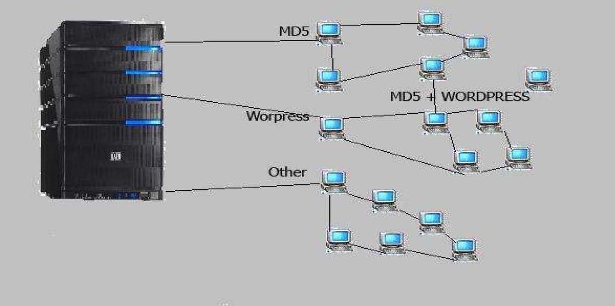 Клиент отправляет хеш на специальный сервер для взлома.