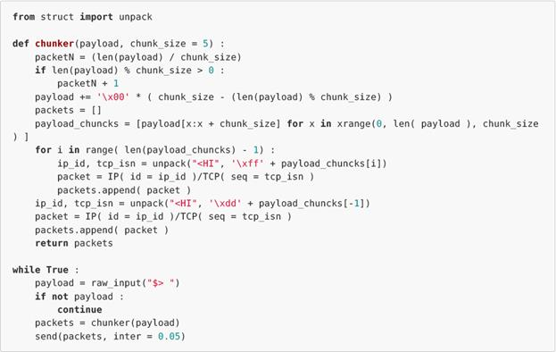 Стеганография на базе стека протоколов TCP/IP  Часть 1