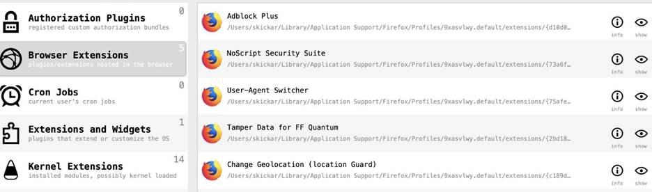 Поиск вредоносов и кейлоггеров в MacOS 27