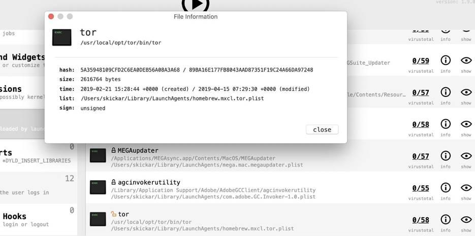 Поиск вредоносов и кейлоггеров в MacOS 28