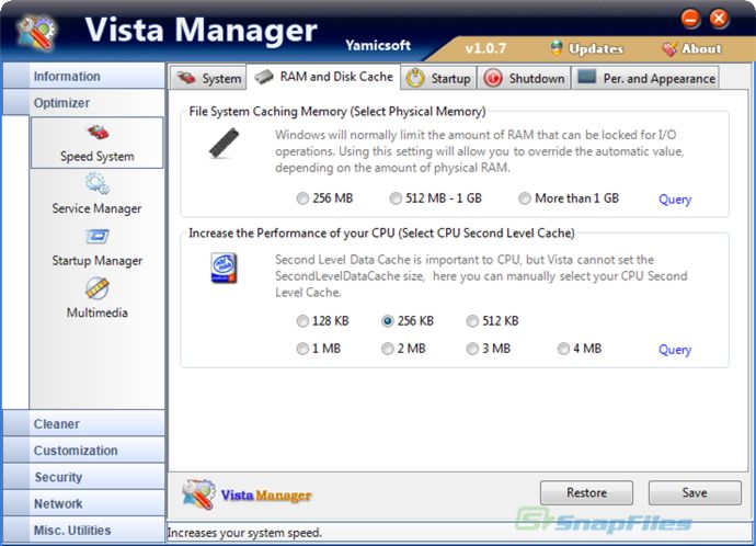 UpLoading. UploadBox. Скачать - Vista Manager v.1.5.9 + Русификатор + Key