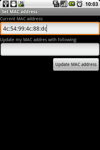 Set MAC address