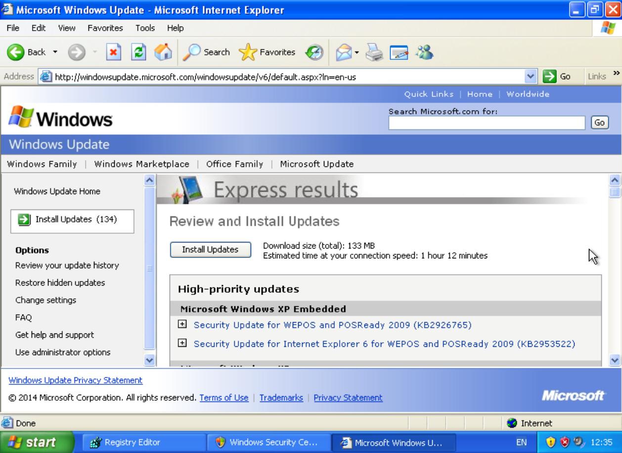 Скачать обновления Windows XP